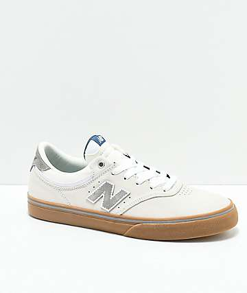 New Balance Numeric 255 Sea Salt, Grey & Gum Skate Shoes
