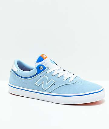 New Balance Numeric 255 zapatos de skate en blanco y azul