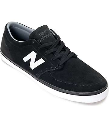 New Balance Numeric 345 Black & White Suede Shoes