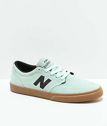 New Balance Numeric 345 zapatos de skate en color menta y goma