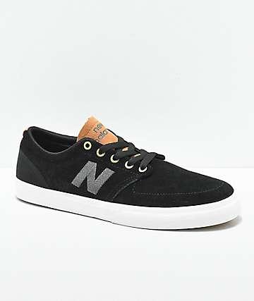 New Balance Numeric 345 zapatos de skate negros y marrones
