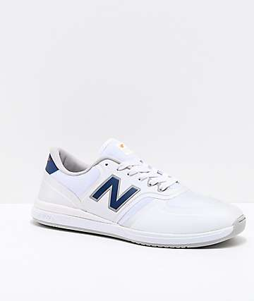 New Balance Numeric 420 White & Royal Blue Skate Shoes