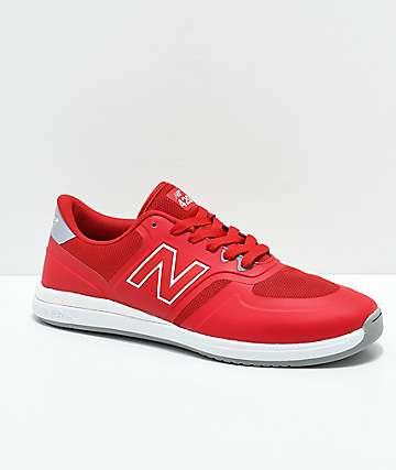 New Balance Numeric 420 zapatos rojos y blancos
