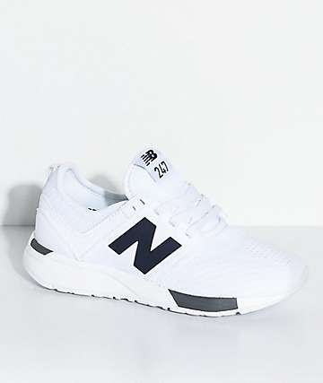 New Balance Numeric Boys 247 Classic Omni White & Grey Shoes