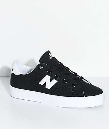 New Balance Numeric Boys Court Black & White Canvas Skate Shoes