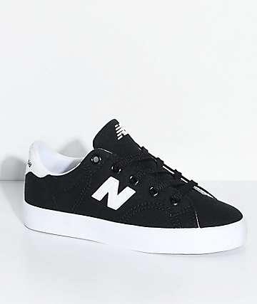 New Balance Numeric Kids Court Black & White Canvas Skate Shoes