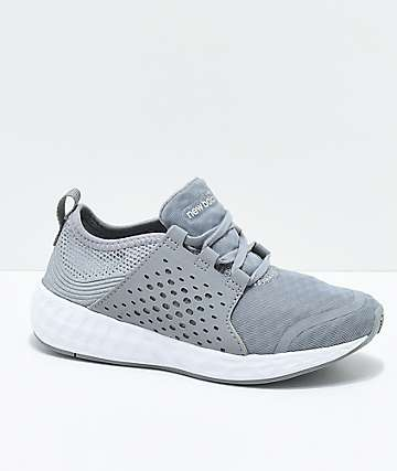 New Balance Numeric Kids Fresh Foam Cruz Sport Grey & White Shoes