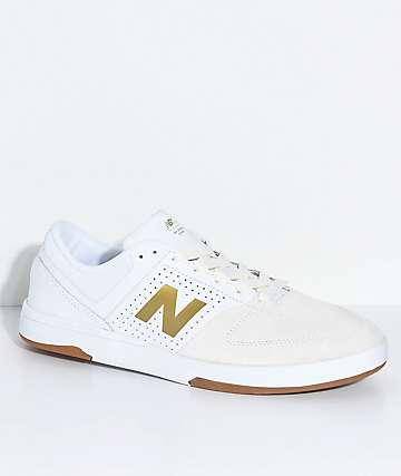 New Balance Numeric PJ Stratford 533 V2 White & Gold Skate Shoes