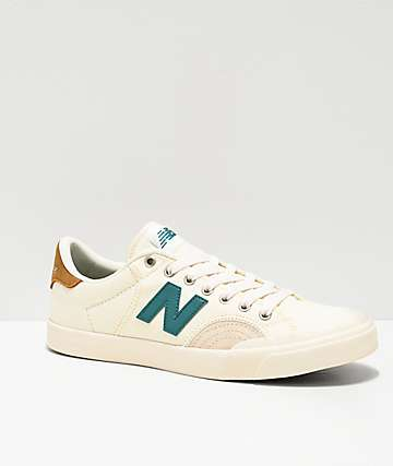 New Balance Numerics 212 White, Blue & Brown Skate Shoes
