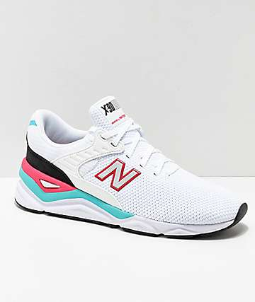 New Balance X-90 White & Pomegranate Shoes