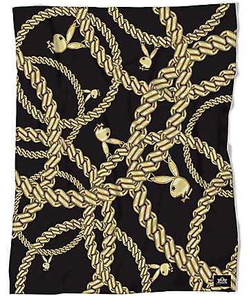 Night Shift X Playboy Chains Coral Sherpa Fleece Blanket