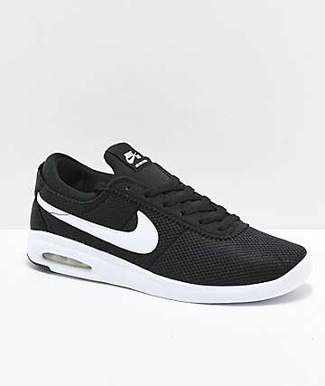 Nike Air Max Bruin Vapor Black & White Skate Shoes