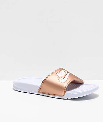 Nike Benassi Bronze Slide Sandals