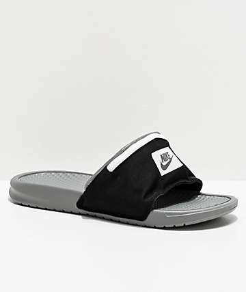 Nike Benassi Fanny Pack Black & Grey Slide Sandals