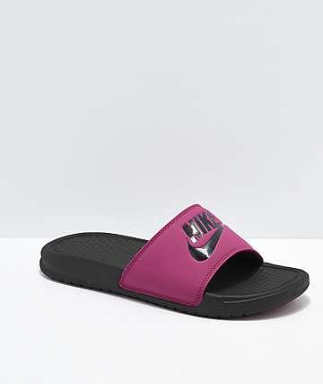 Nike Benassi True Berry Slide Sandals