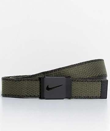 Nike Cargo cinturón tejido en verde olivo