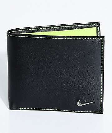 Nike Color Blocked Bi-Fold Black & Yellow Wallet
