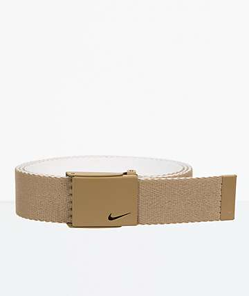 Nike Essentials Khaki Reverse Web Belt
