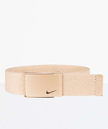 Nike Essentials Rose Gold Web Belt