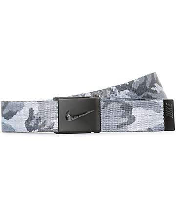 Nike Graphic Camo Reversible White & Grey Web Belt