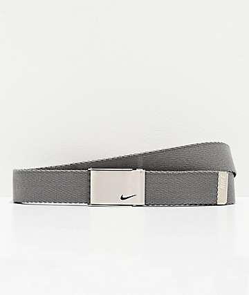 Nike Grey & Black Reversible Web Belt