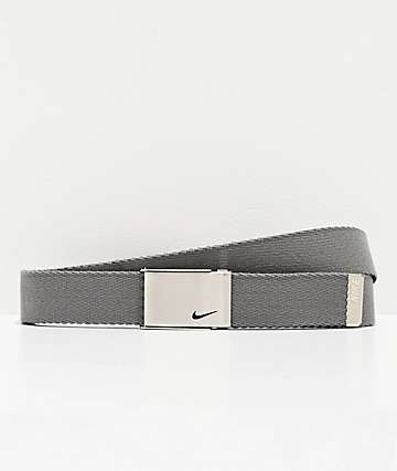 Nike Grey & Black Reversible Web Belt