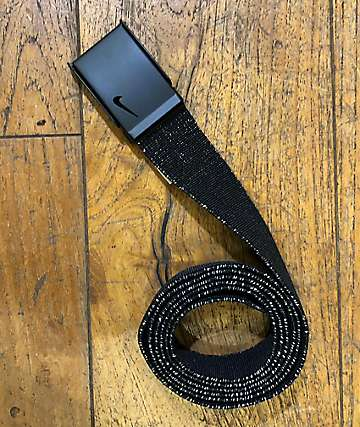 Nike Lurex Black & Gold Web Belt