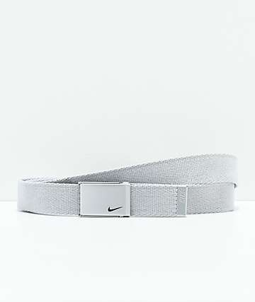 Nike Metallic Silver Web Belt