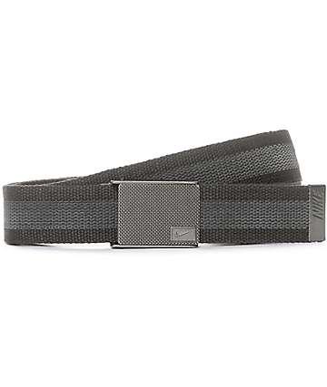 Nike Rubber Inlay cinturón tejido reversible en gris