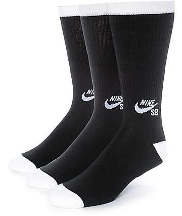 Nike SB 3 Pack calcetines negros