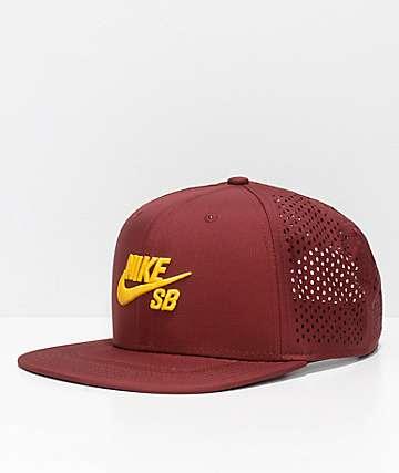 Nike SB Aero Pro Team Burgundy & Gold Snapback Hat
