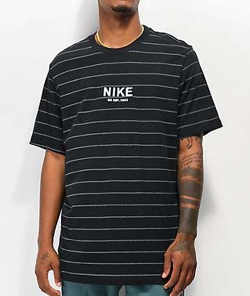 Nike SB Allover Stripe Black T-Shirt