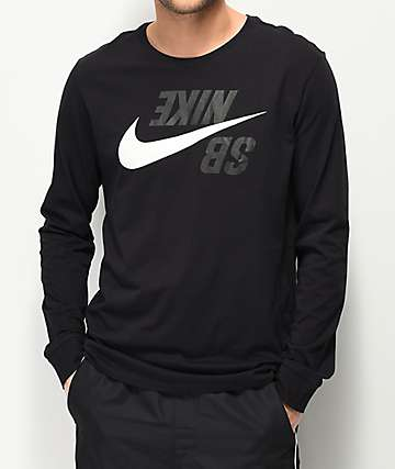 Nike SB Backwards Black Long Sleeve T-Shirt