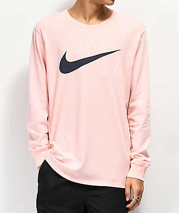 Nike SB Backwards Storm camiseta rosa de manga larga