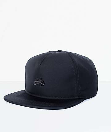 Nike SB Black Dri-Fit Unstructured Strapback Hat
