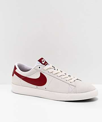 Nike SB Blazer Low GT White & Team Red Skate Shoes