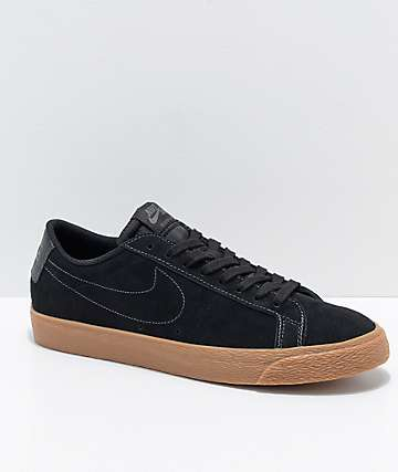 Nike SB Blazer Zoom Low Black & Gum Skate Shoes