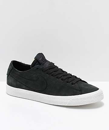 brand new b80d0 ba673 Nike SB Blazer Zoom Low Deconstructed Black   White Skate Shoes
