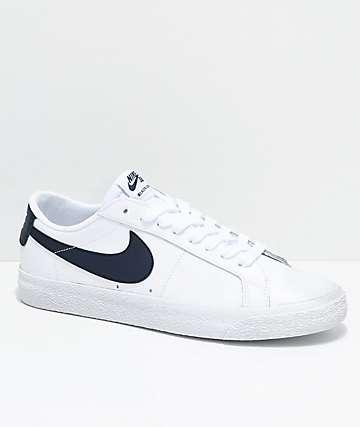 Nike Canapé En Cuir Bleu Marine Blazer