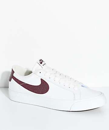 Nike SB Blazer Zoom zapatos de lienzo en blanco y rojo