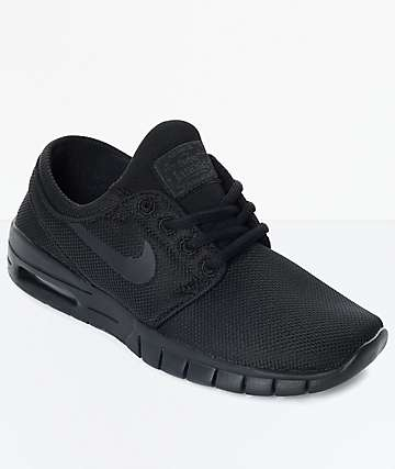 Nike SB Boys Janoski Air Max All Black Skate Shoes