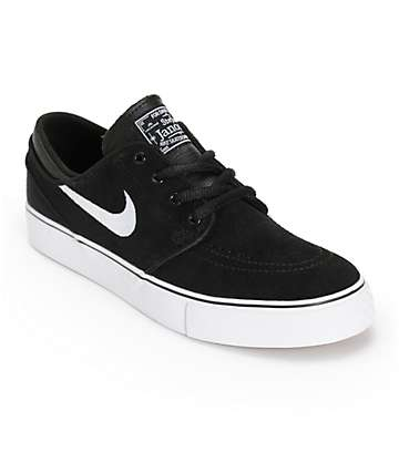 Nike SB Boys Janoski Black & White Skate Shoes
