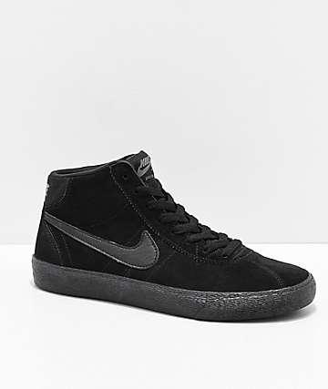 Nike SB Bruin Hi All Black Skate Shoes 9cad3be8b