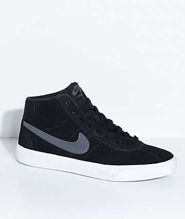 Nike SB Bruin Hi Black, Dark Grey & White Skate Shoes