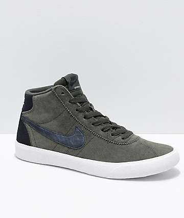 Nike SB Bruin Hi Sequoia & Summit White Skate Shoes