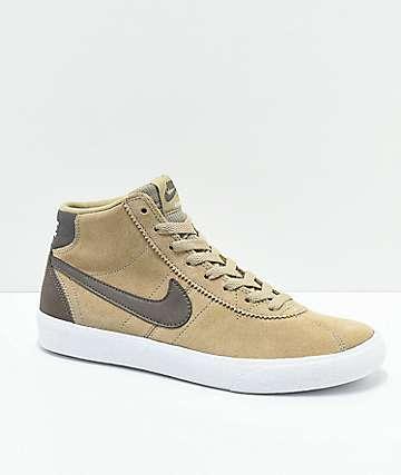 Nike SB Bruin Hi zapatos skate en caqui y blanco
