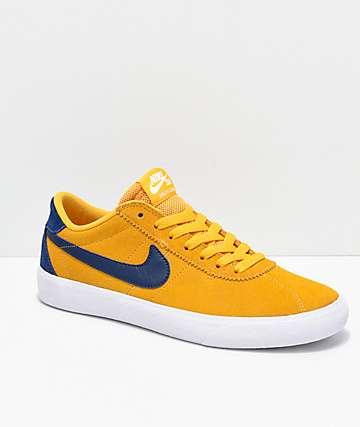 Nike SB Bruin Low Yellow, Blue & White Skate Shoes