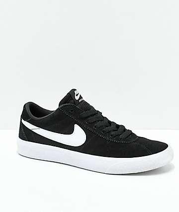 Nike SB Bruin Low zapatos de skate en negro y blanco