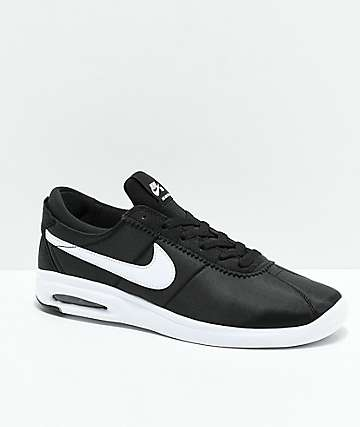 Nike SB Bruin Vapor Air Max Black & White Nylon Skate Shoes