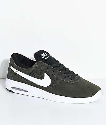Nike SB Bruin Vapor Air Max zapatos de skate en blanco y gris pardo